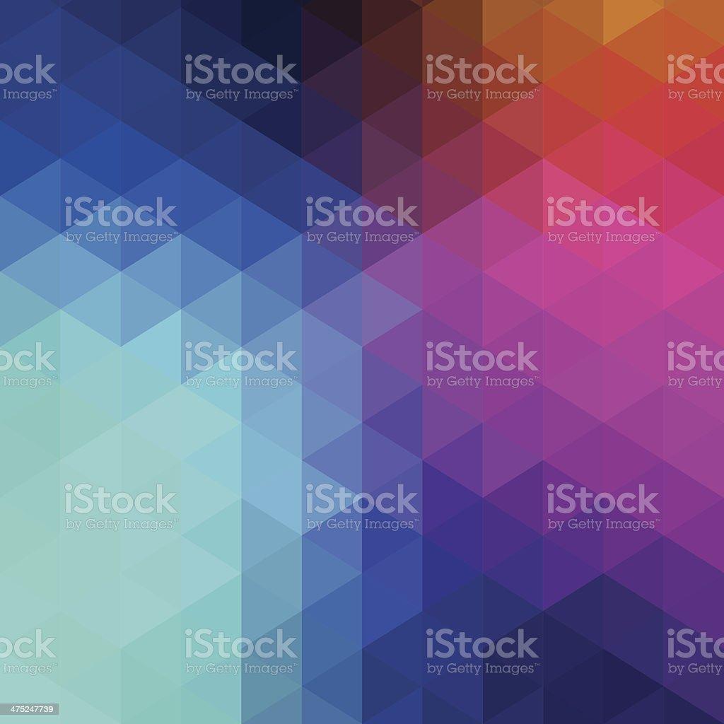 Retro hexagon abstract background vector art illustration