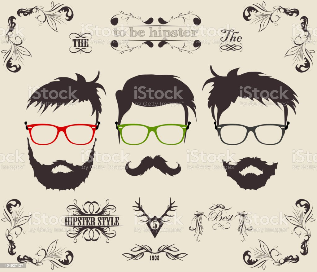 Retro hipster labels and backgrounds royalty-free stock vector art