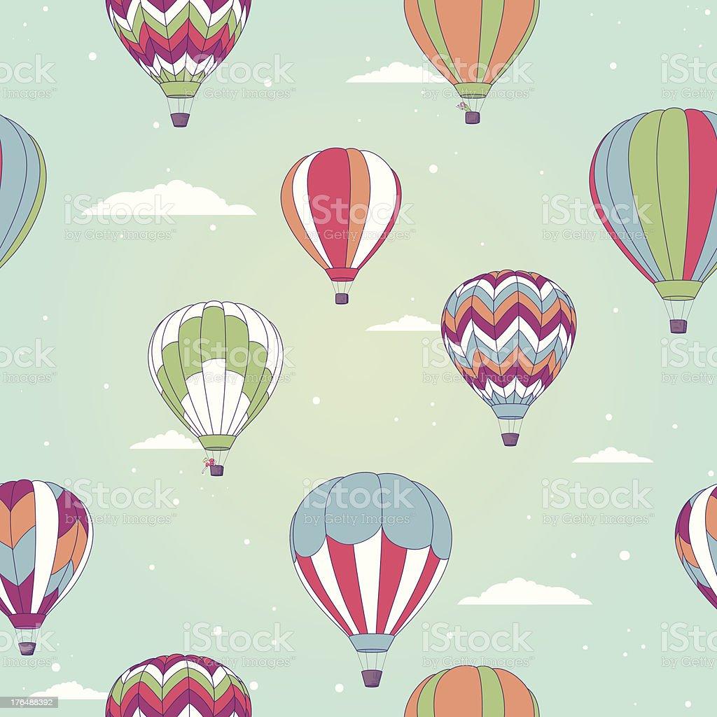 Retro hot air balloon royalty-free stock vector art