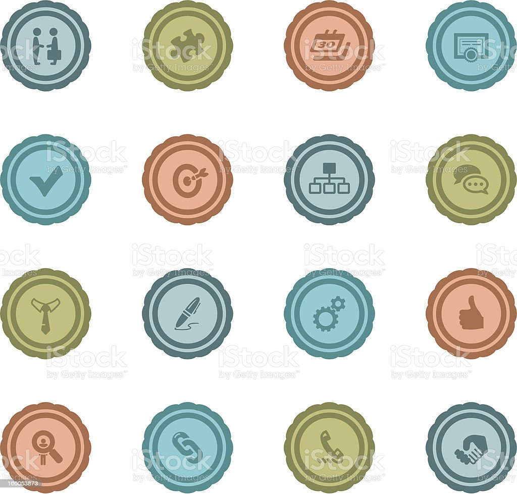 Retro Human Resource Badges royalty-free stock vector art