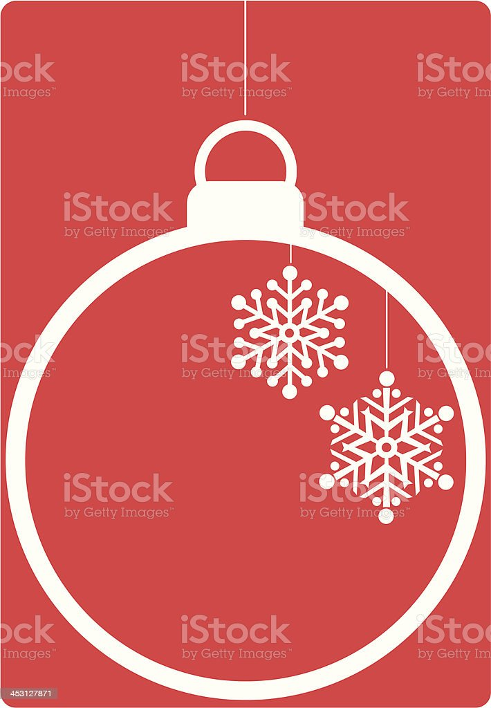 Retro Icon Bauble on Red royalty-free stock vector art
