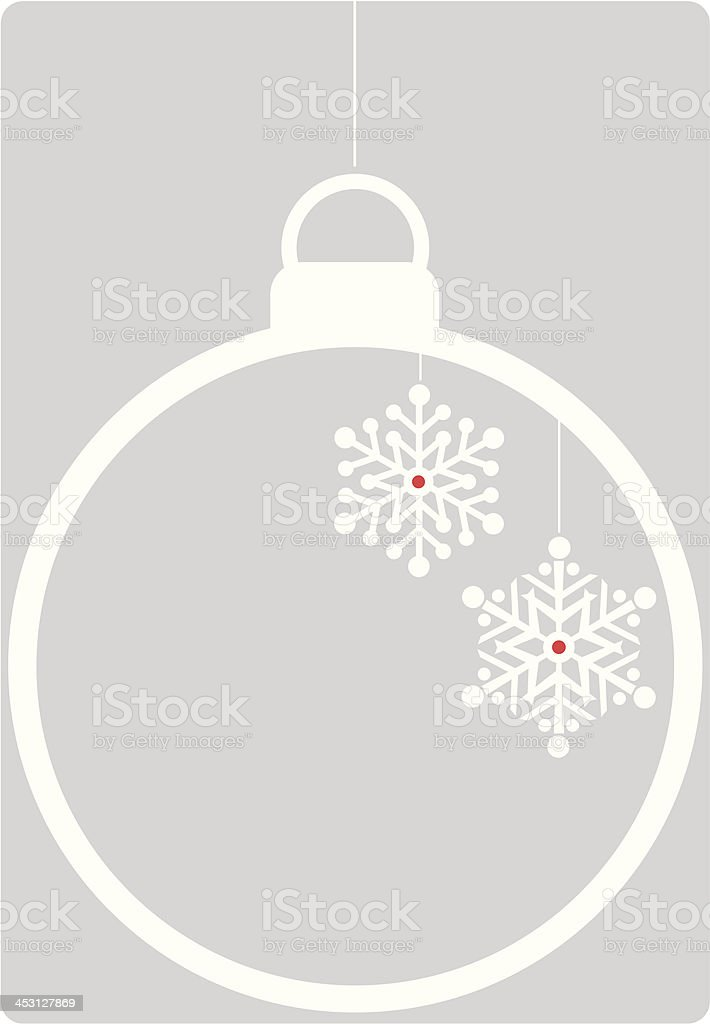 Retro Icon Bauble on Silver royalty-free stock vector art