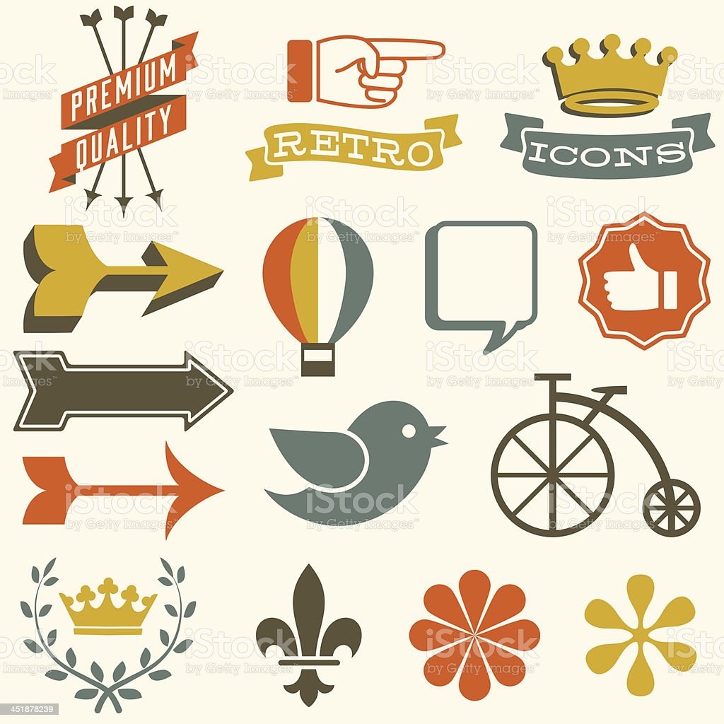 Retro Icons royalty-free stock vector art