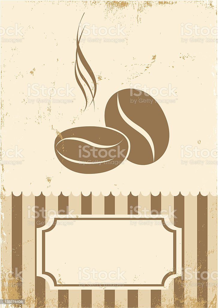 Retro illustration of coffee royalty-free stock vector art