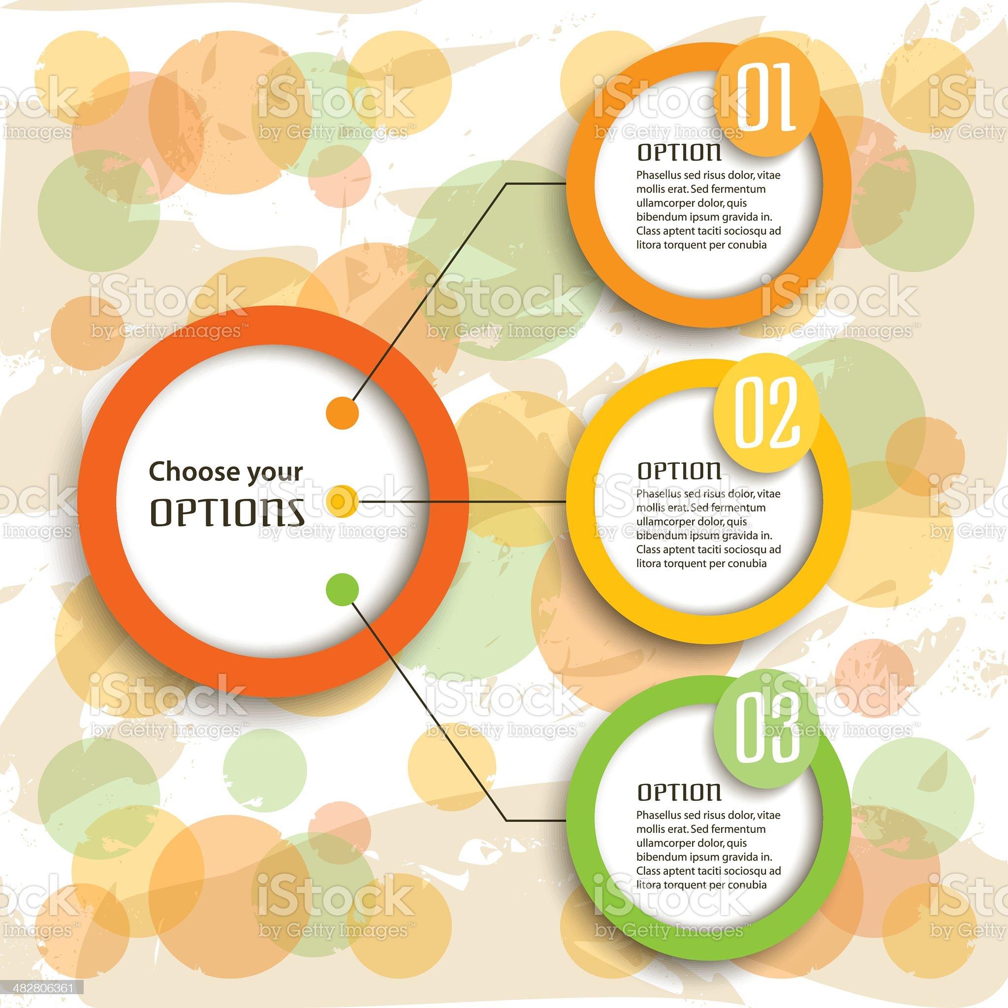 Retro Infographic Options royalty-free stock vector art