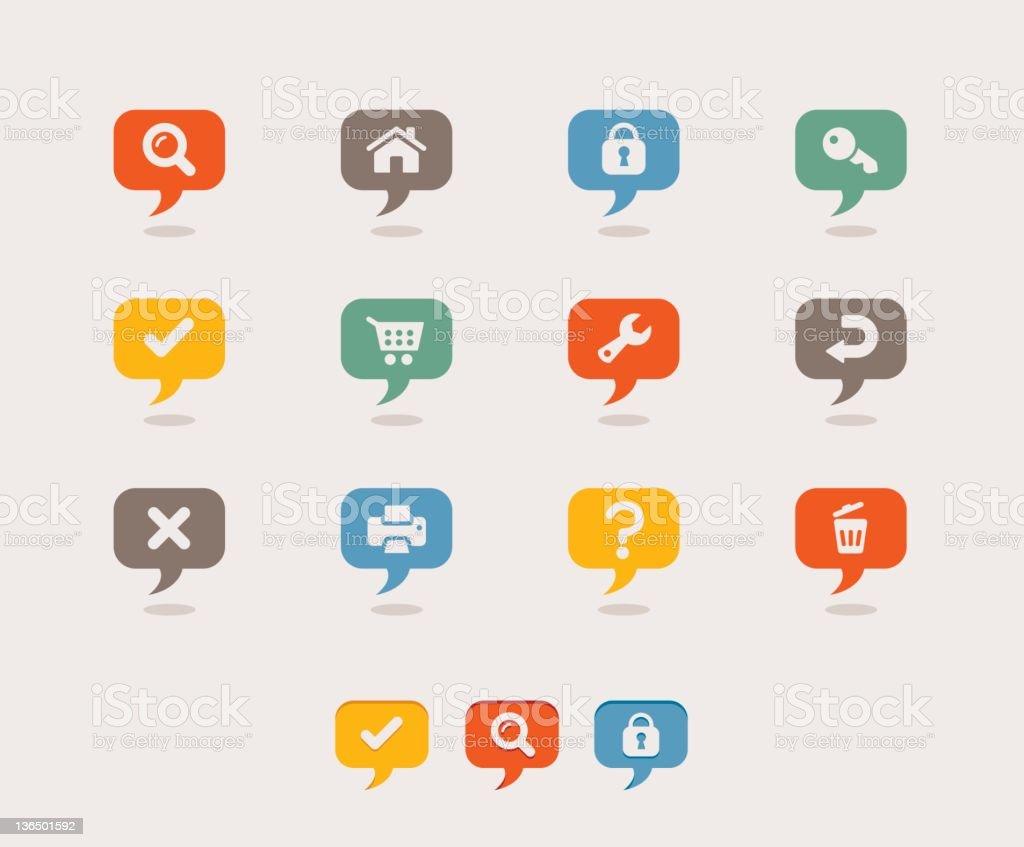 Retro - Internet icons stock photo