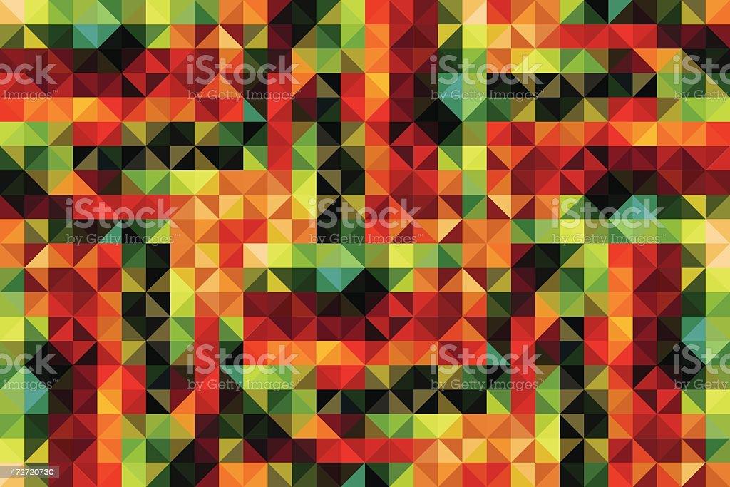 Retro kaleidoscope style vector background vector art illustration