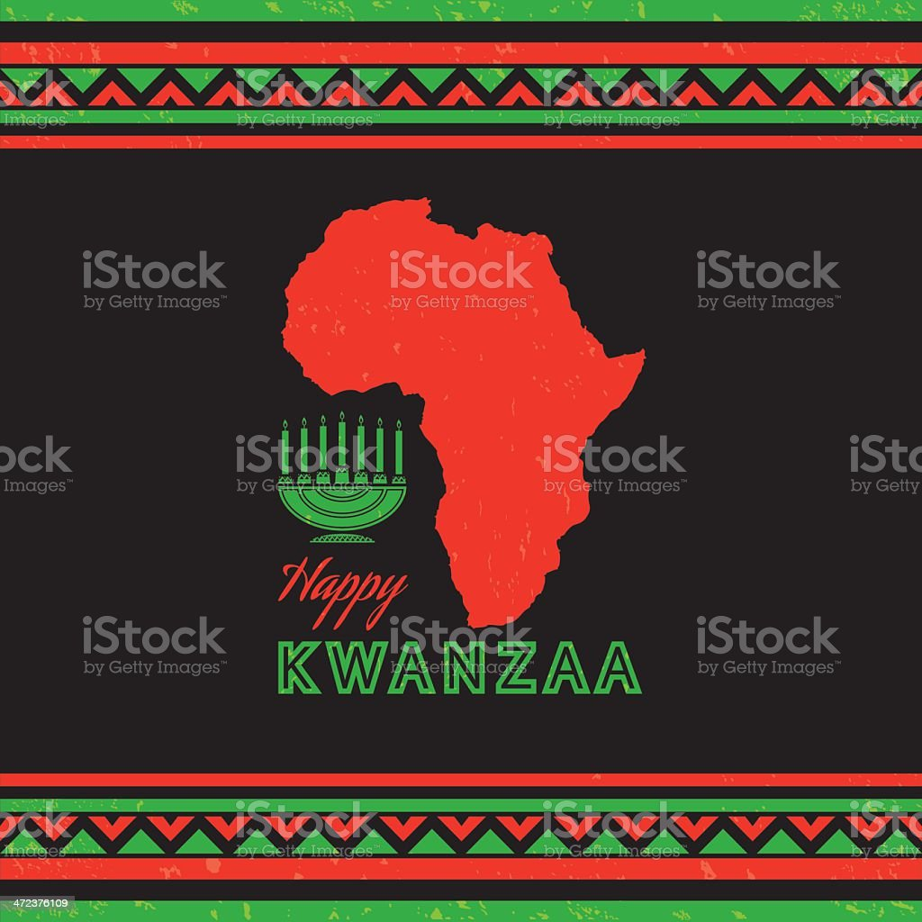 Retro Kwanzaa Celebration Card royalty-free stock vector art