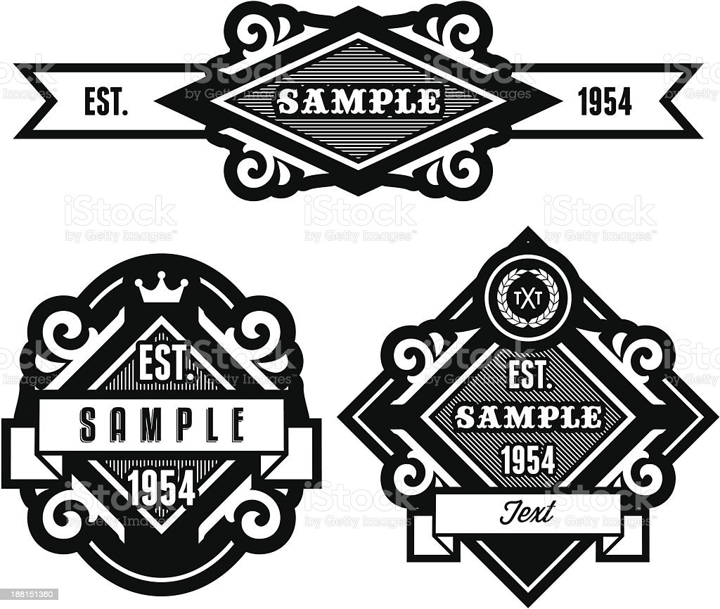 retro label vector art illustration