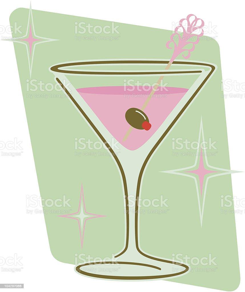 Retro Martini vector art illustration
