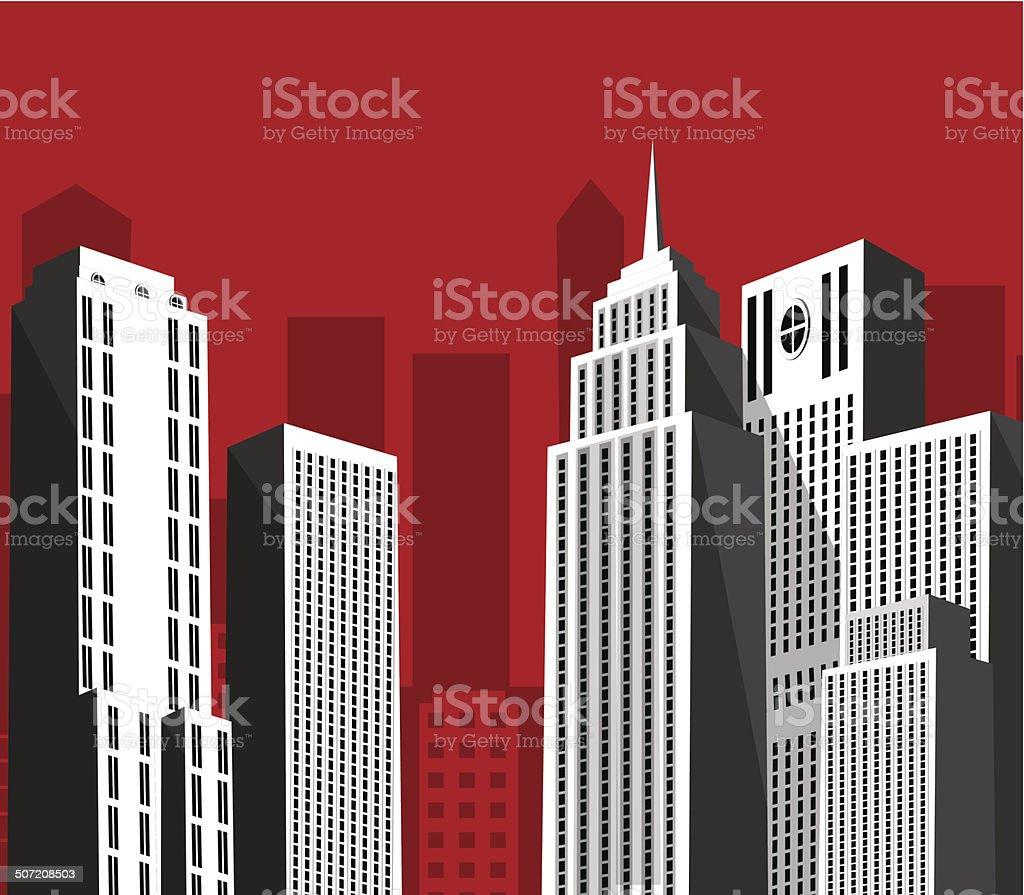 Retro megapolice royalty-free stock vector art