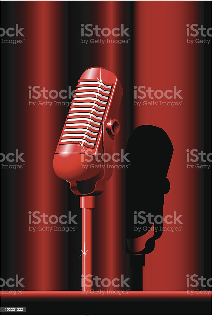 Retro microphone royalty-free stock vector art