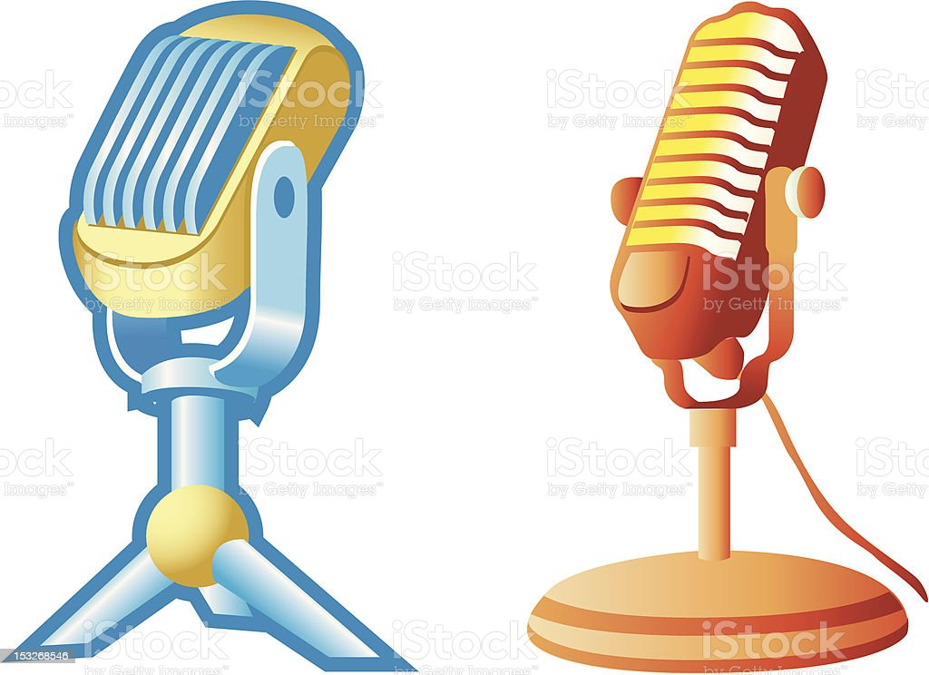 Retro microphone royalty-free stock vector art