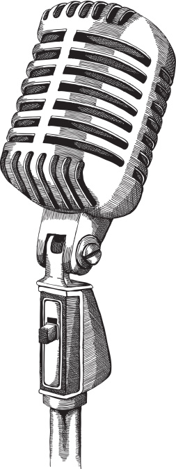 Line Art Microphone : Microphone clip art vector images illustrations istock