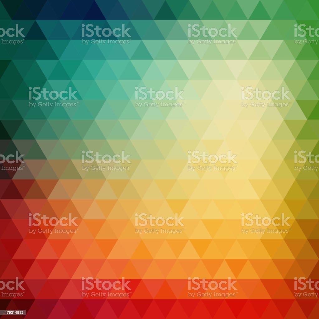 Retro mosaic pattern of geometric triangle shapes vector art illustration