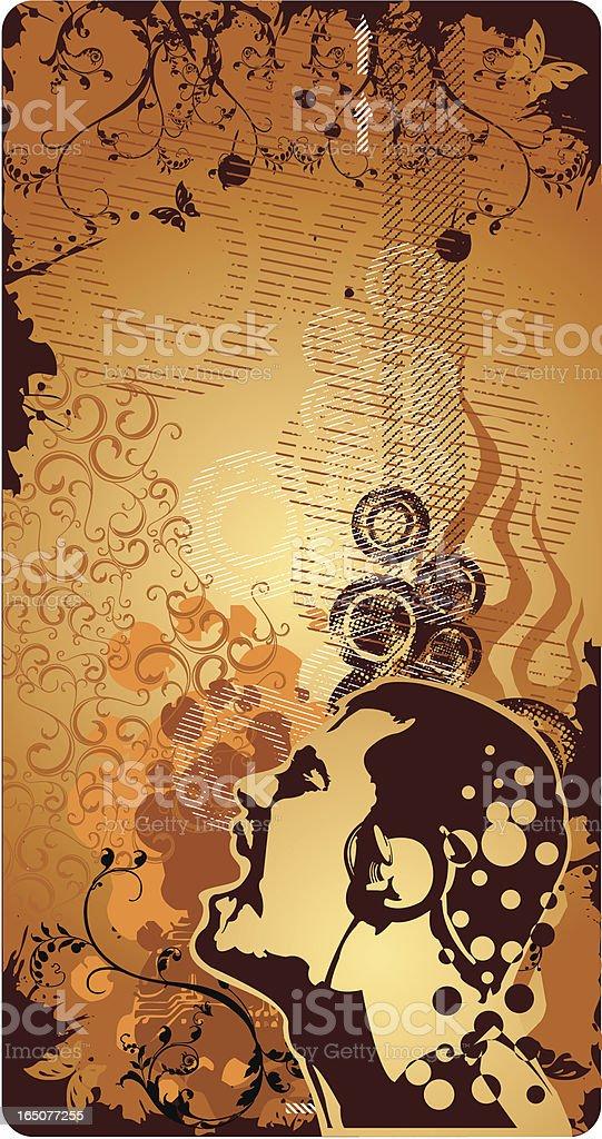 Retro musical design. vector art illustration