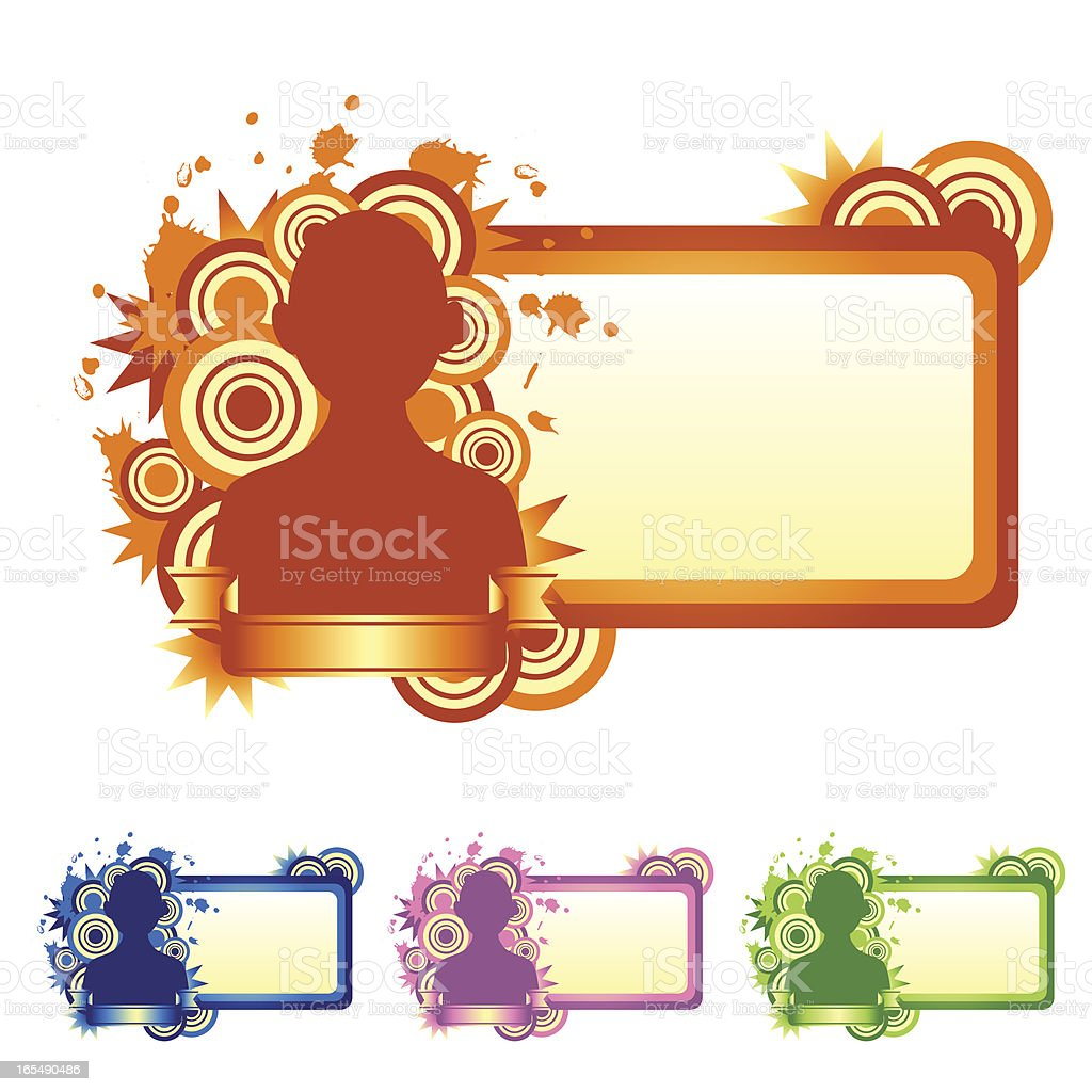 Retro Name Tag for People royalty-free stock vector art