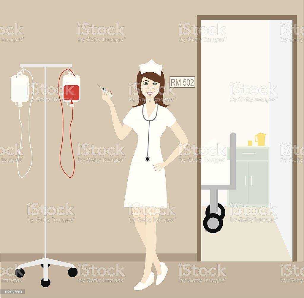 Retro Nurse royalty-free stock vector art