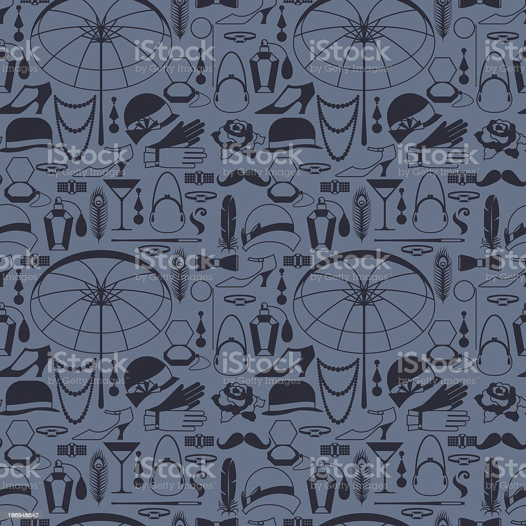 Retro of 1920s style seamless pattern. royalty-free stock vector art