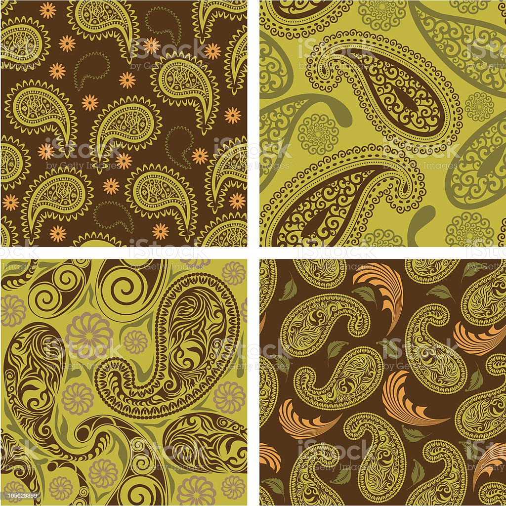 Retro paisley textile. royalty-free stock vector art
