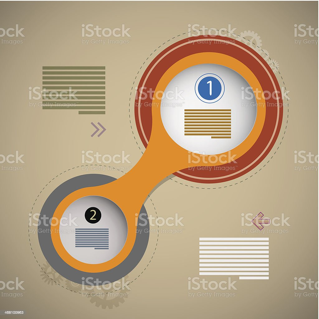 Retro Paper Circle Infographics royalty-free stock vector art