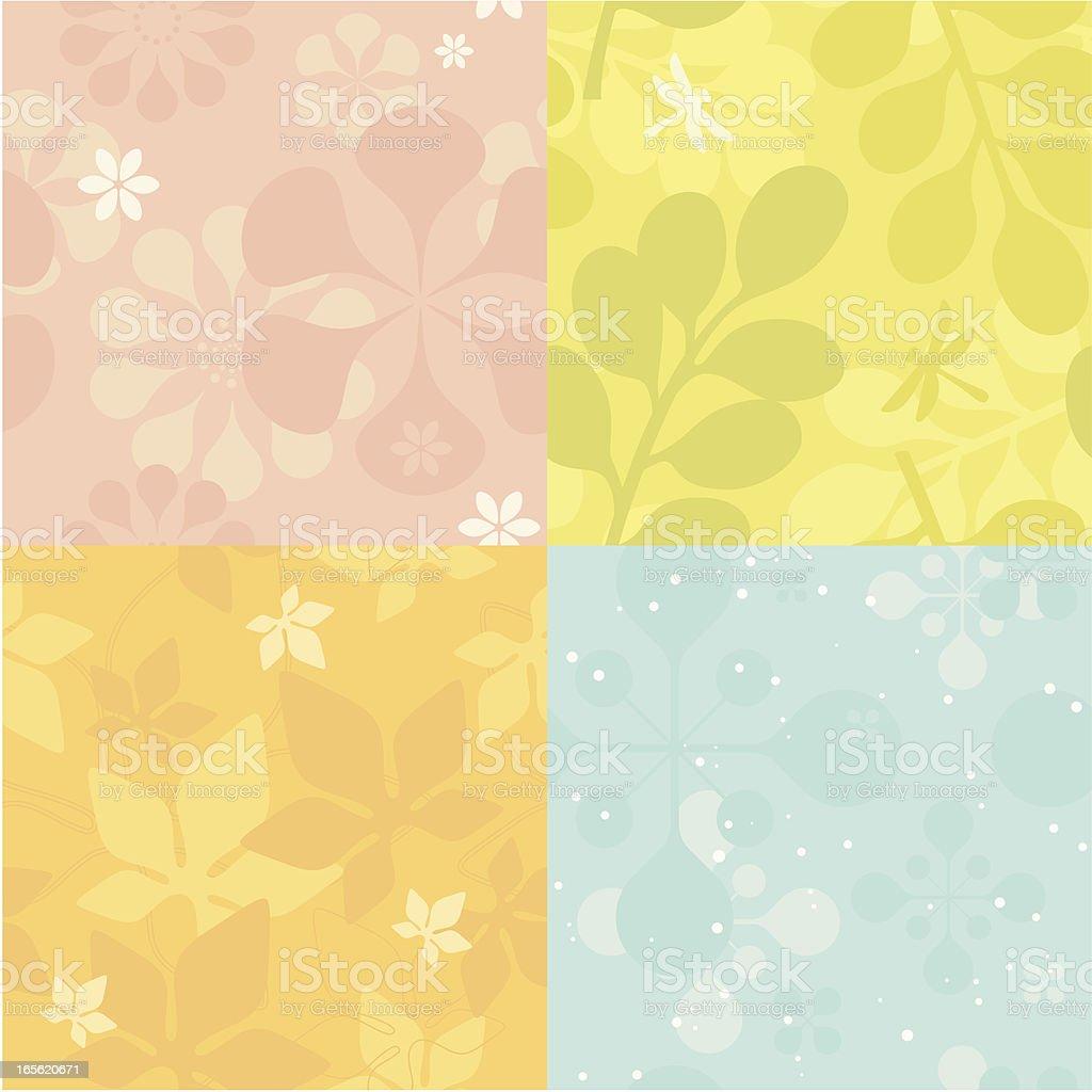 Retro Pastel Fourseasons (seamless) royalty-free stock vector art