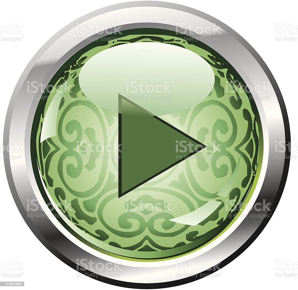 Retro pattern button (play) royalty-free stock vector art