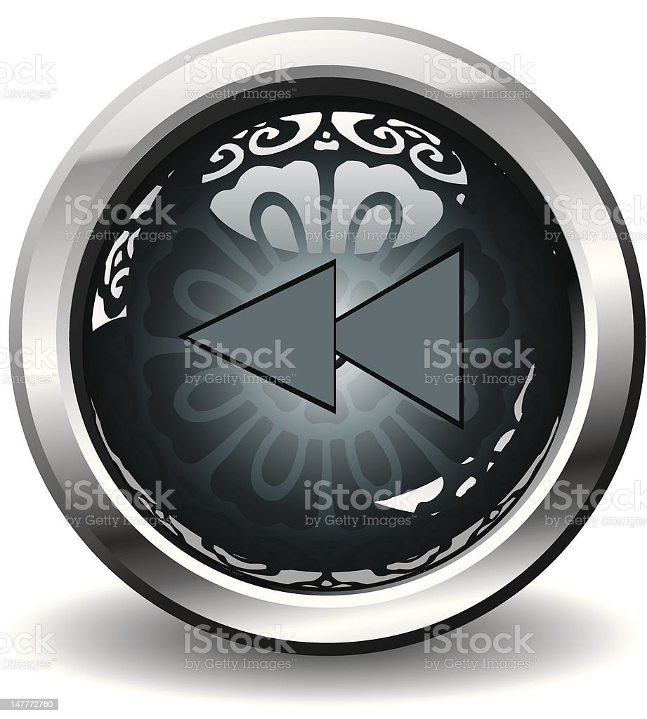 Retro pattern button royalty-free stock vector art