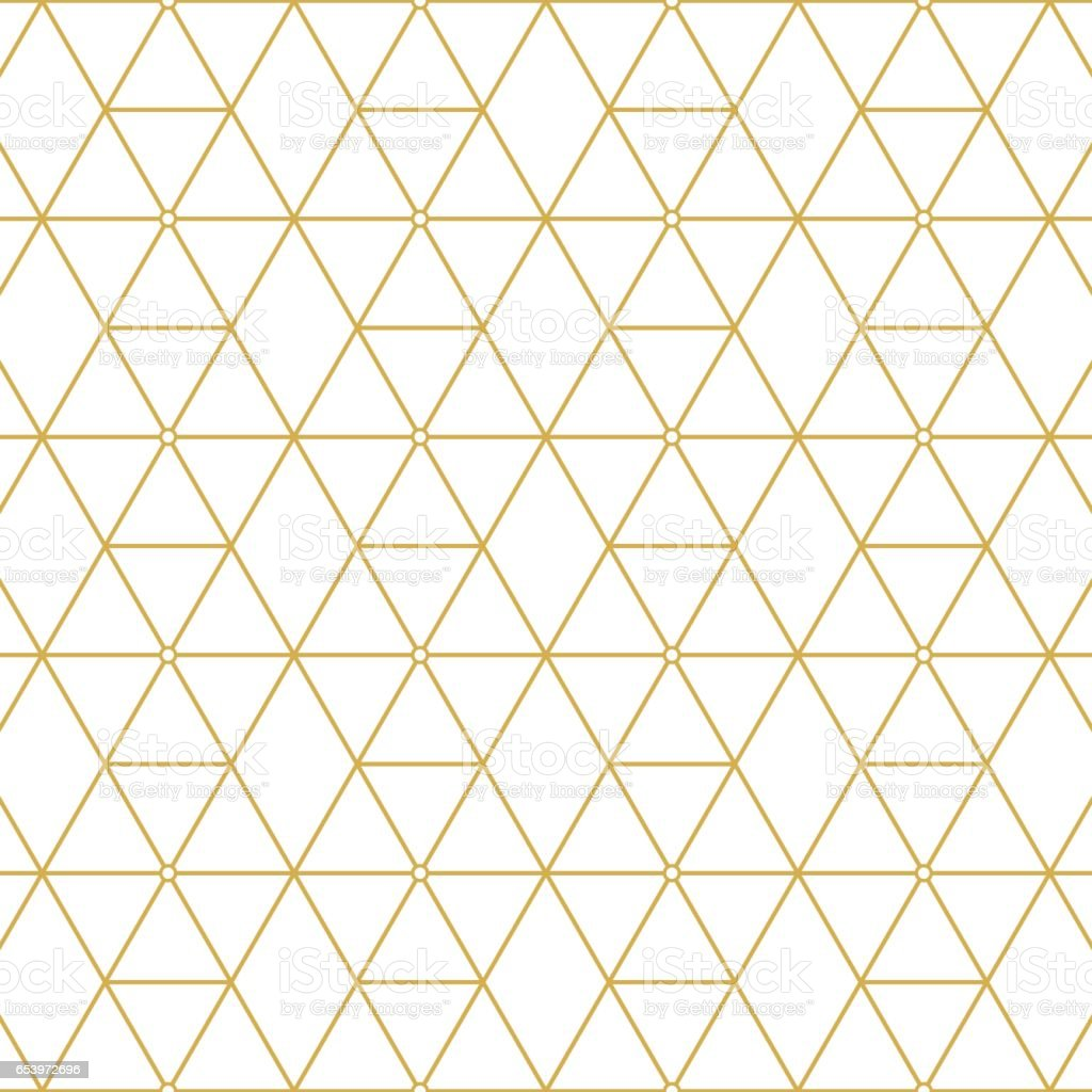 Retro pattern gold squares vector art illustration