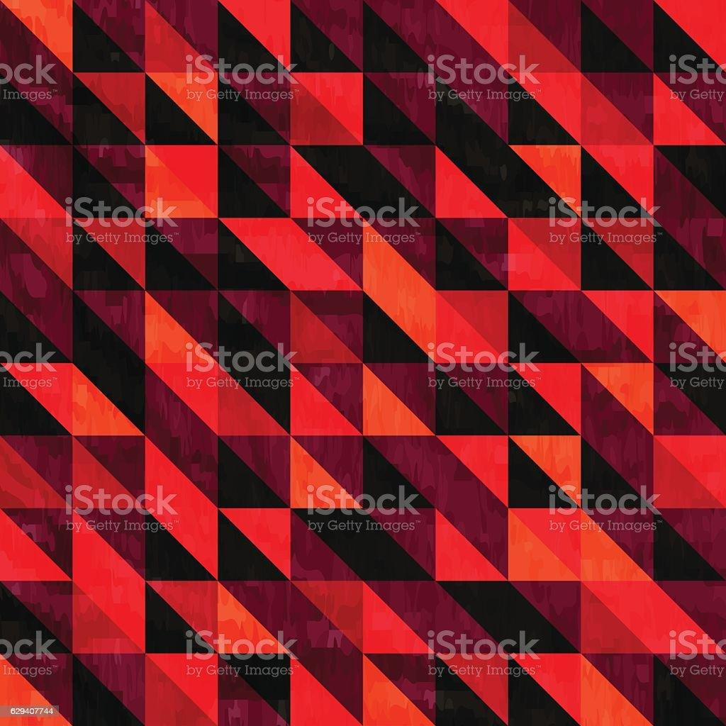 Retro pattern of geometric shapes vector art illustration