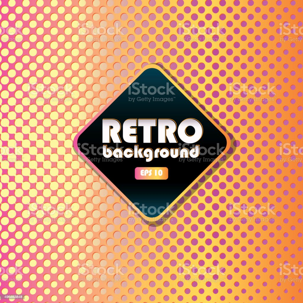 Retro patterns and background design templates bright colorful vector art illustration