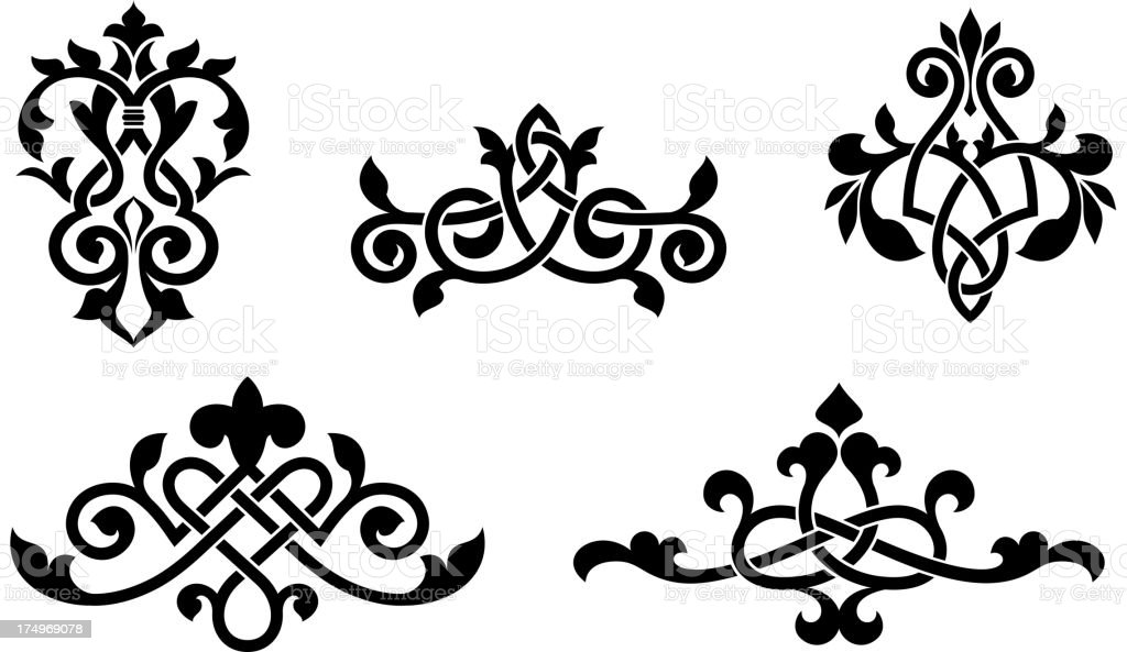 Retro patterns and elements royalty-free stock vector art