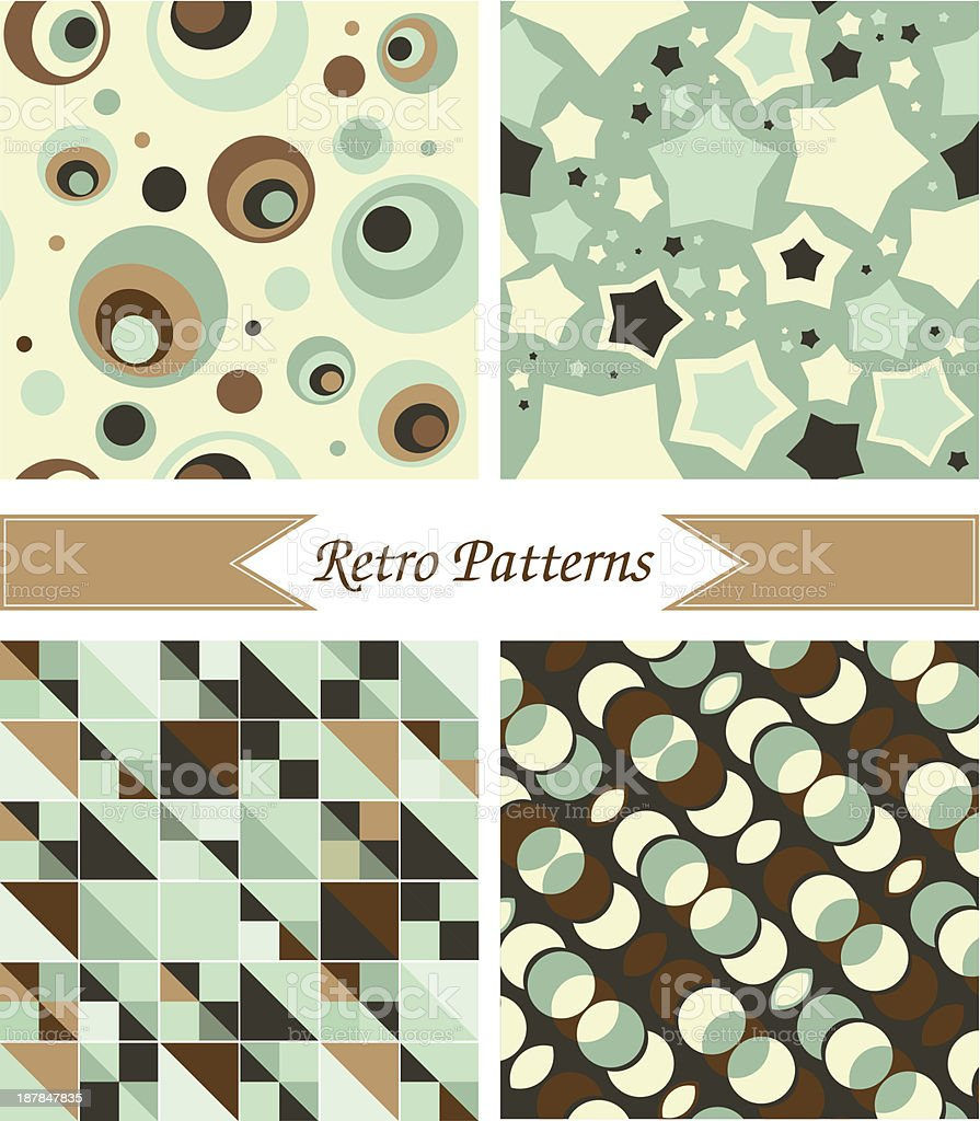 retro patterns royalty-free stock vector art