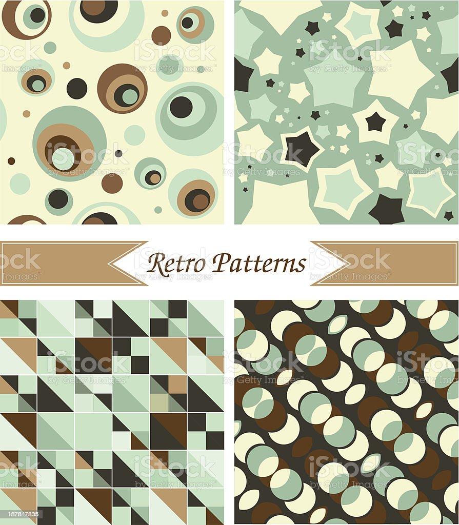 retro patterns vector art illustration