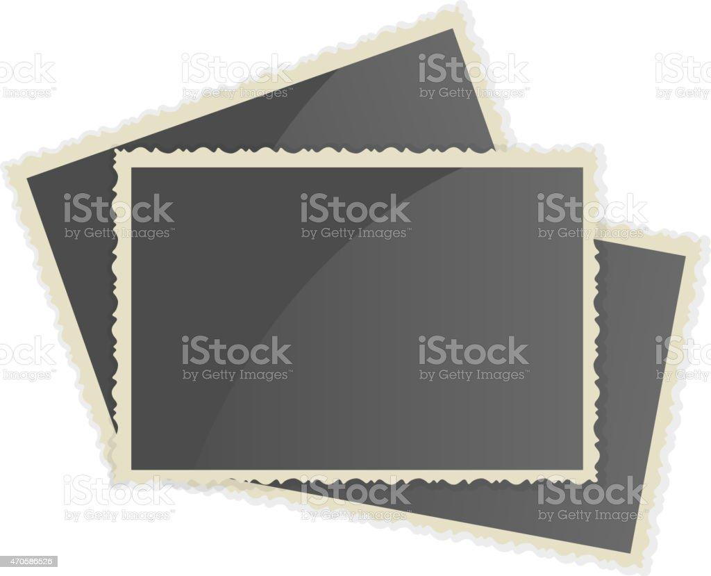 Retro Photo Frame vector art illustration