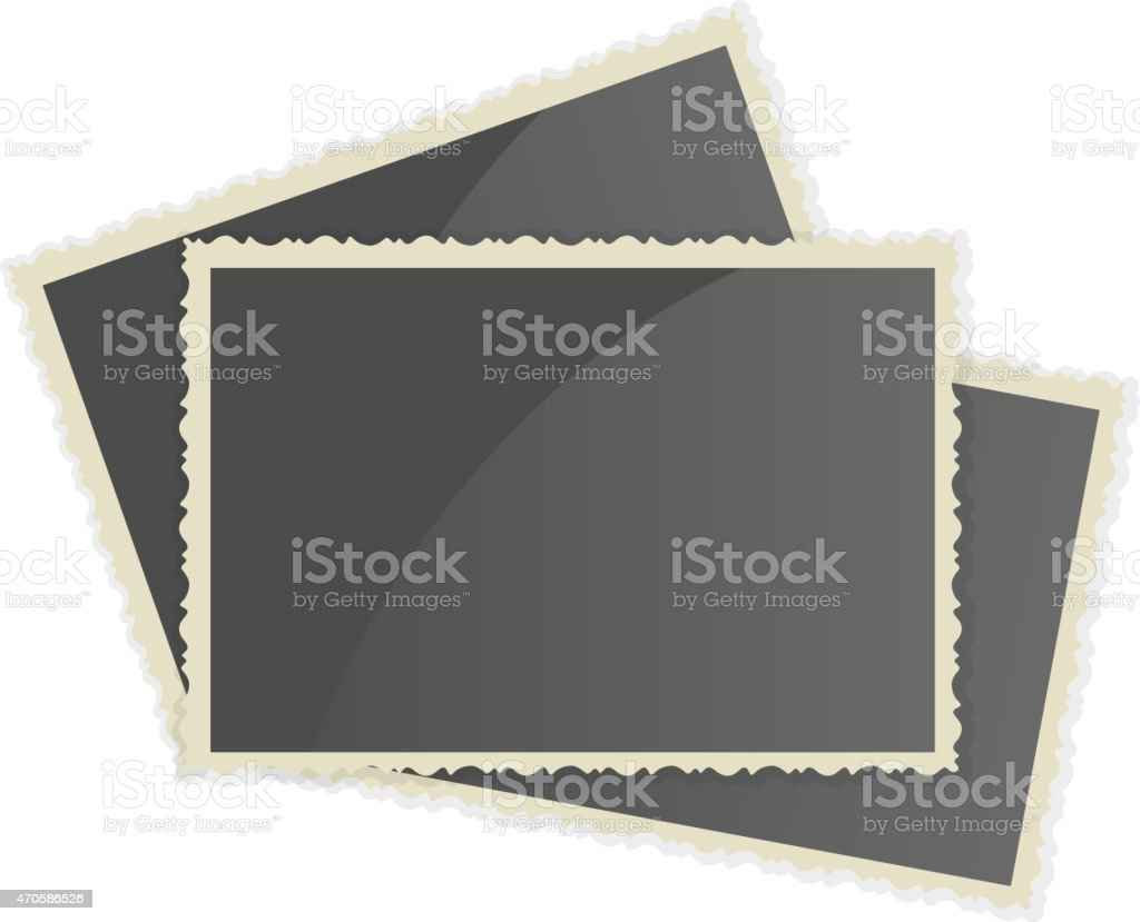 Retro Photo Frame vector art illustration