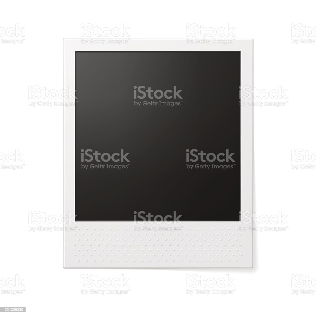 Retro photo frame. vector art illustration