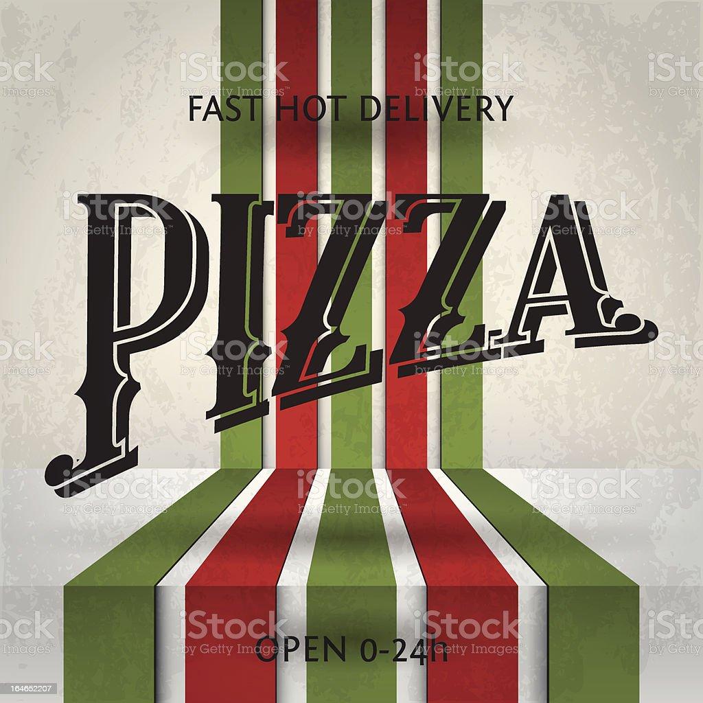Retro Pizza Poster royalty-free stock vector art