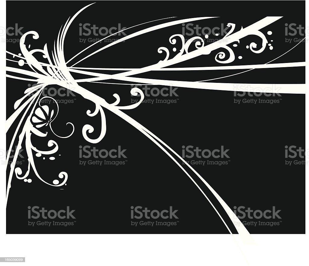 retro plant background royalty-free stock vector art