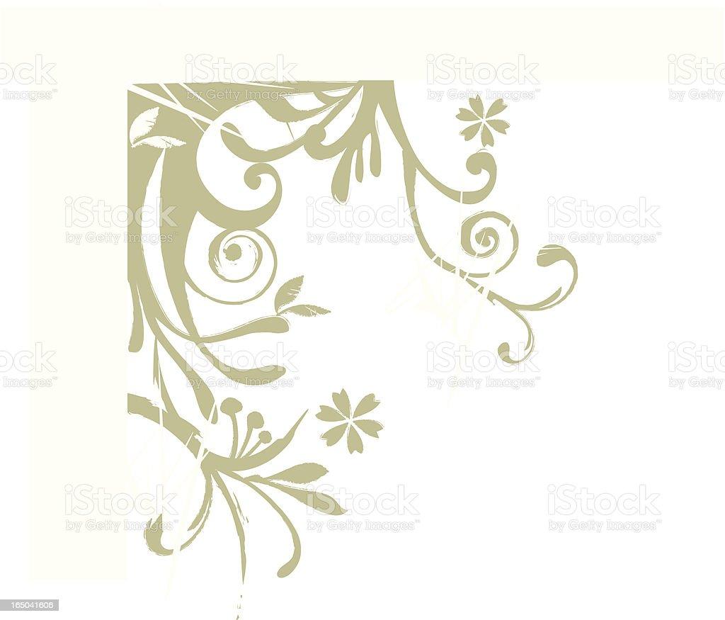 retro plant royalty-free stock vector art
