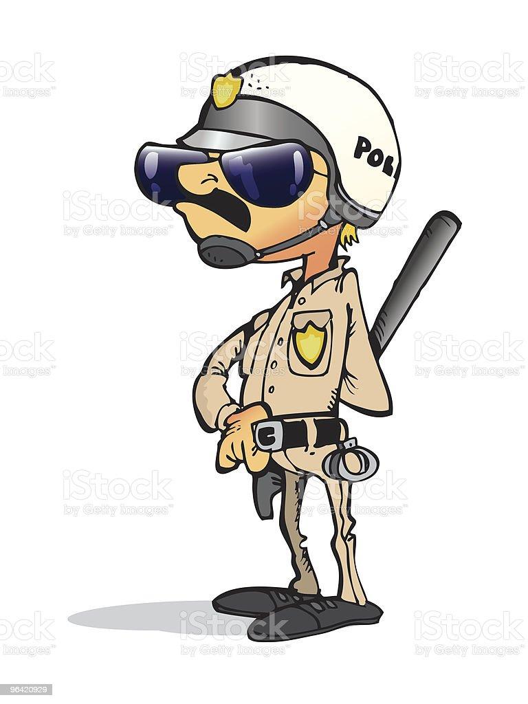 Retro Police vector art illustration