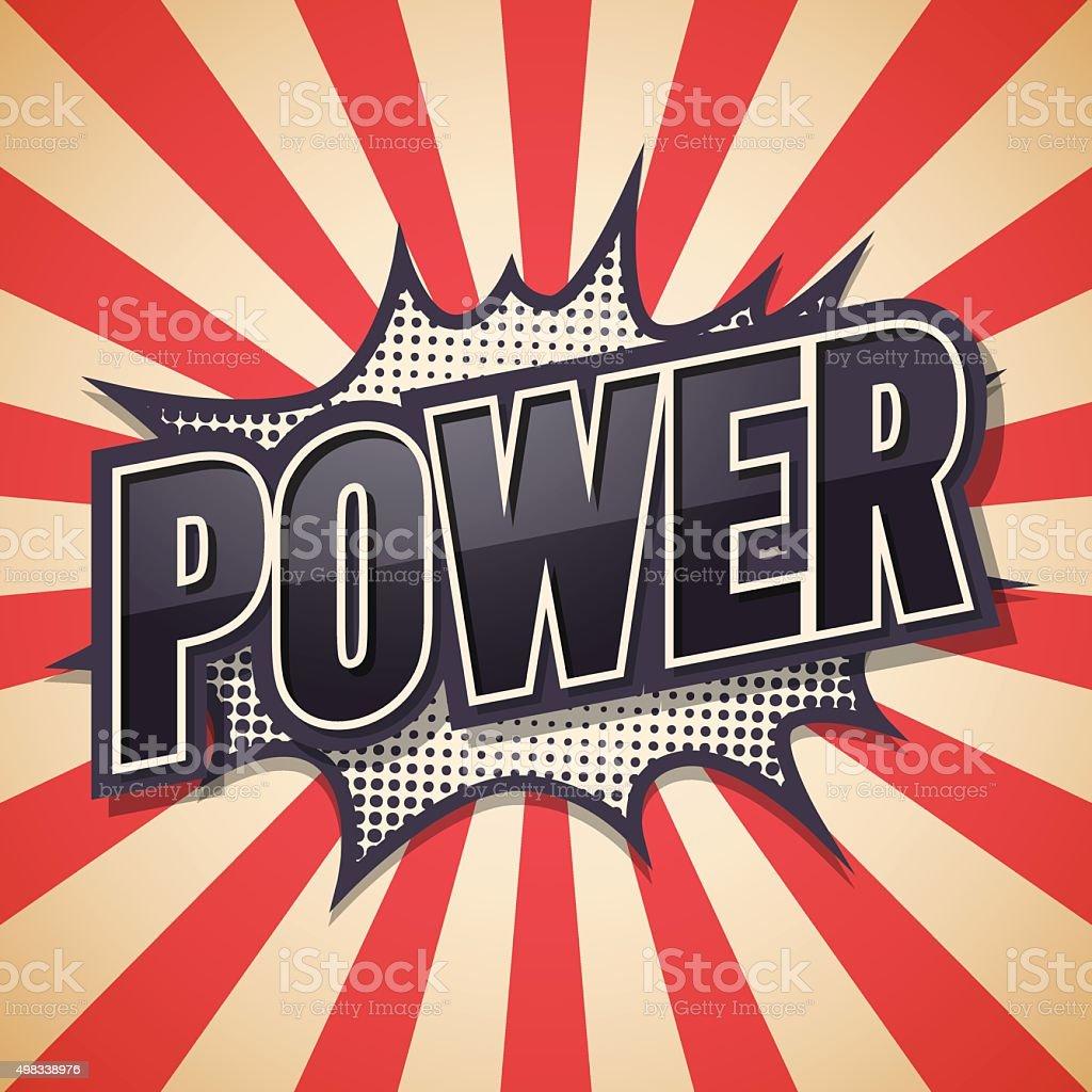 Retro poster, Power, Vector illustration. vector art illustration