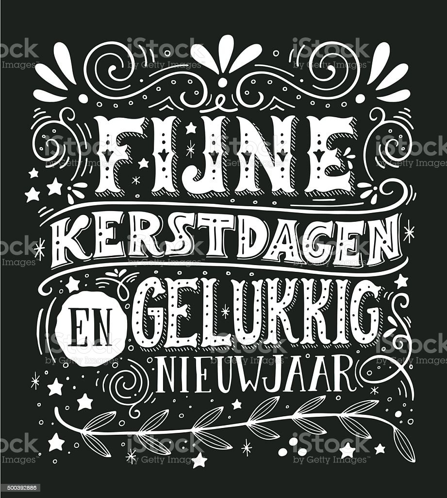 Retro poster with hand lettering and decoration elements. vector art illustration