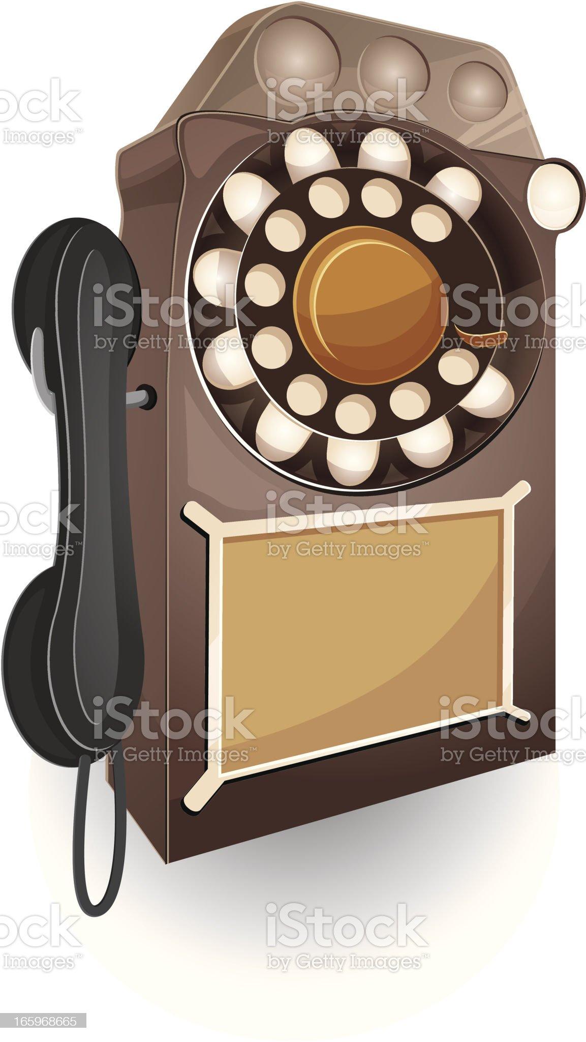 Retro public phone. royalty-free stock vector art