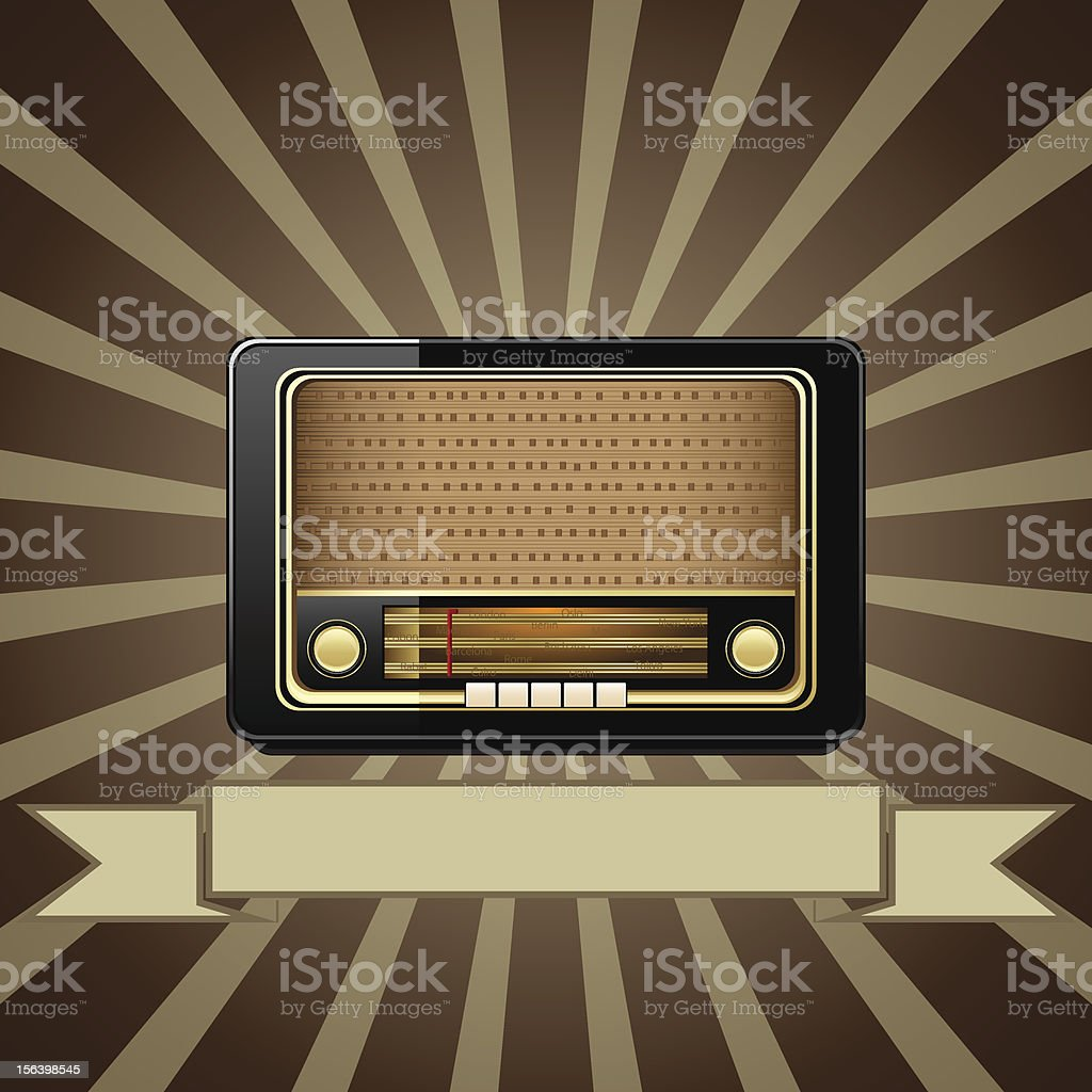 Retro radio background royalty-free stock vector art