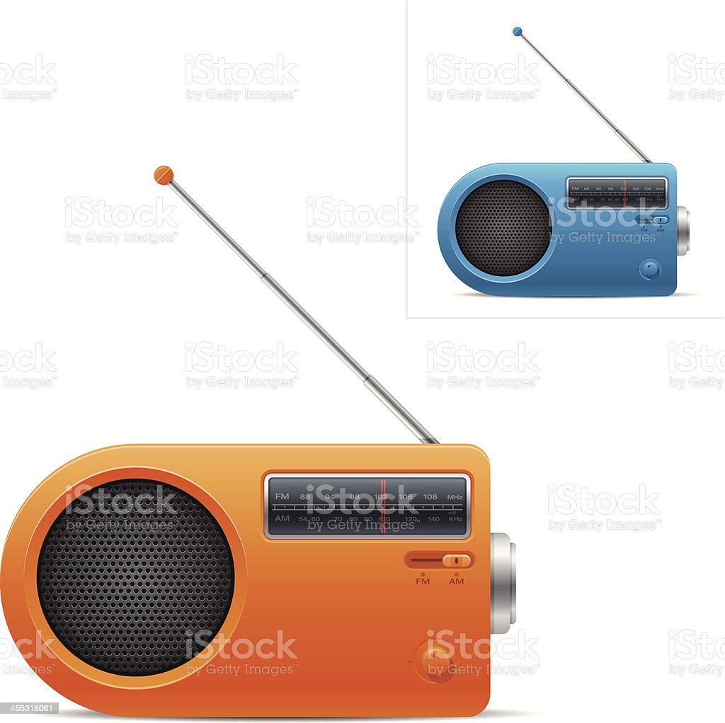 Retro radio royalty-free stock vector art