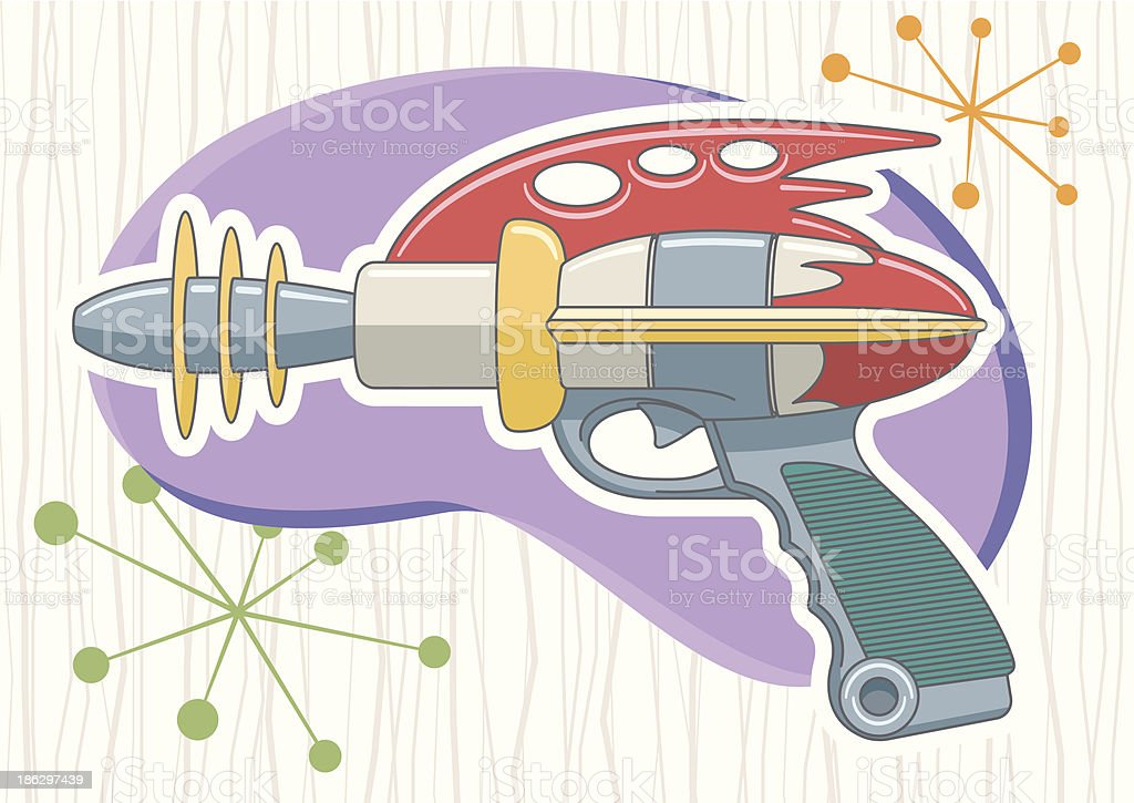 Retro Ray Gun royalty-free stock vector art