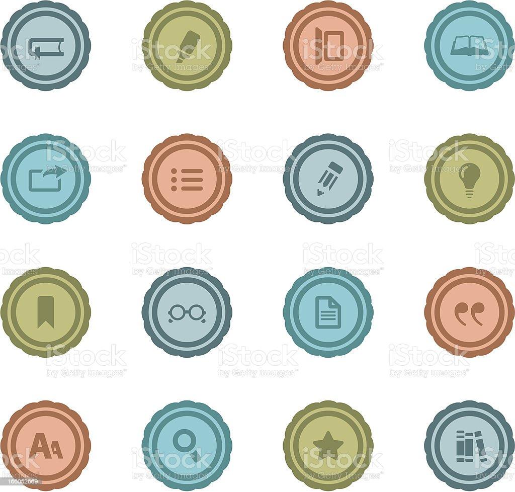 Retro Reading Badges royalty-free stock vector art