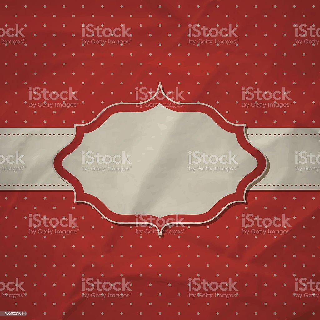 Retro red frame royalty-free stock vector art