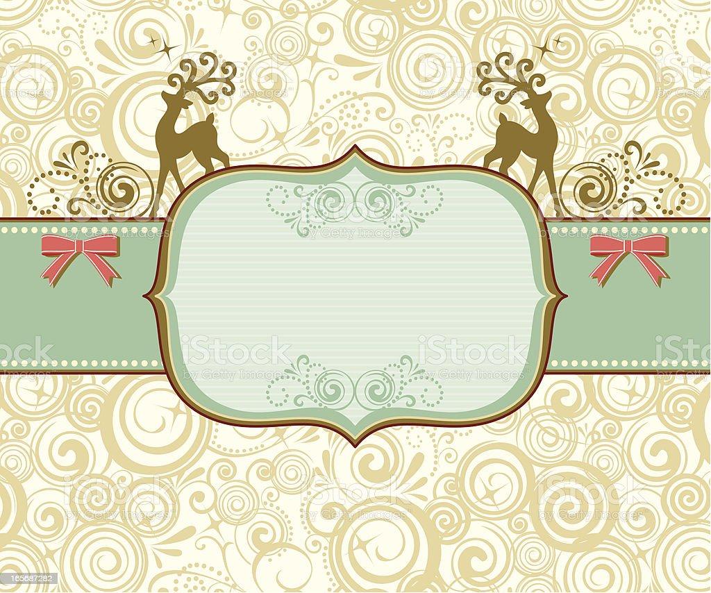 Retro Reindeer Banner royalty-free stock vector art